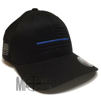 Thin Blue Line Drapeau Profil Bas police casquette de baseball Law Enforcement Hat 99885