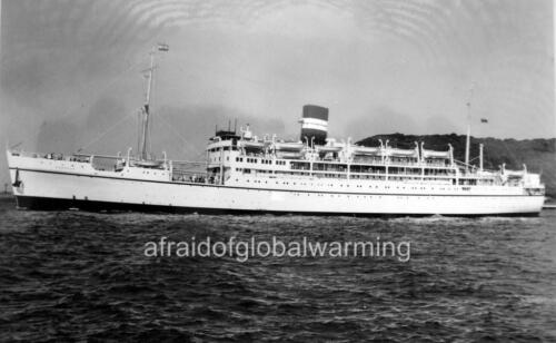 Old Photo SS Karanja Ship Sailing from Mombasa