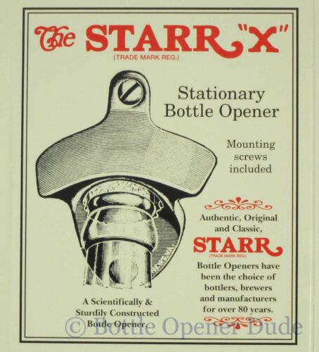 BLOOD SWEAT AND BEERS Starr X Wall Mount Stationary Bottle Opener Metal New!