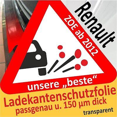 Autopflege & Aufbereitung Zielsetzung Renault Zoe Ab 2012 Lackschutzfolie Ladekantenschutz Folie Auto Schutzfolie Auto & Motorrad: Teile