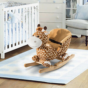 Children Rocking Horse W/ Nursery Rhyme&Belt