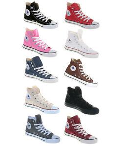 Converse-Chucks-All-Star-HI-Femmes-Hommes-Tissu-Chaussures-Classique-Nouveau