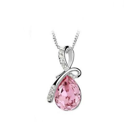 Women's Fashion Silver Chain Crystal Rhinestone Pendant Necklace Jewelry Gift