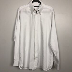 Broletto-Long-Sleeve-Button-Shirt-Men-039-s-White-Multicolor-Size16-1-2-36-37-100