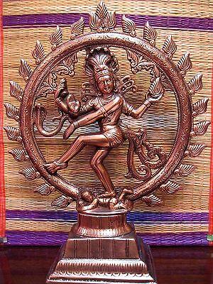 17inch Dancing Lord Shiva Natraj God of Dance Natraja Copper Plated Metal  Statue 689850111663   eBay