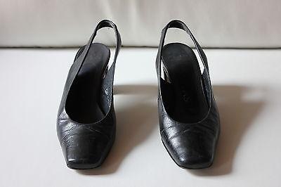 SERVAS Slingbacks Größe 3,5 (Gr. 36,5) Leder schwarz Damen Schuhe Pumps
