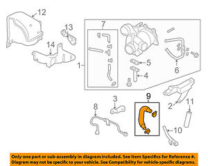 image is loading subaru-oem-forester -turbocharger-turbo-coolant-return-water-
