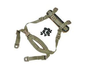 Fma 4 Points Casque Tactical Accessoires Système De Rétention Menton Sangle Avec Bol...-afficher Le Titre D'origine