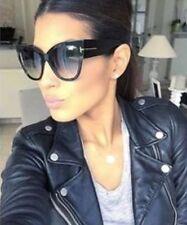 New Tom Ford Anoushka Sunglasses TF 371 Black 01B 57mm Women Cateye Italy w/Case