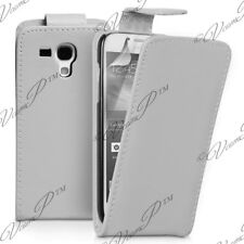 CARCASA SOLAPA POLIPIEL BLANCO Samsung Dúos Galaxy S 2 S7582 S7580