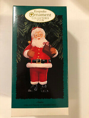 100/% PURE MINT! 1996 Hallmark Keepsake Ornament ~ Collector/'s Club SANTA