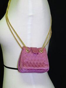 Vintage 70 S Charles Jourdan Pink Quilted Mini Handbag W