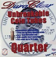 50 Duraclear Quarter 25c Coin Tubes - State Washington Silver Storage
