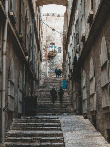 Treppen Jerusalem Israel x00008 Impresión Wand Deko Leinwand Bilder