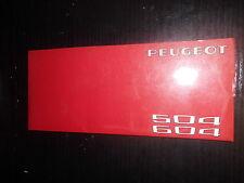 Kundendienst Scheckheft Peugeot 504 604 Garantiekarte Carnet D'Entretien Auto