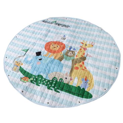 Aniaml Print Baby Play Mat Carpet Kids Toy Storage Bags Crawl Floor Rug 09