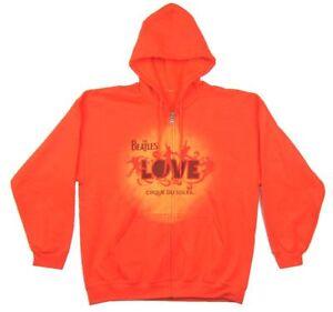 Beatles Varsity Style Zip Up Grey Sweatshirt Hoodie New Official Band Merch