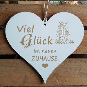 Details Zu Schild Herz Viel Glück Im Neuen Zuhause Glückwunsch Geschenk Einzug Umzug