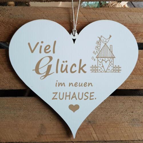"""Bouclier Coeur /""""bonne chance dans la nouvelle maison/"""" Félicitations Cadeau retrait déménagement"""