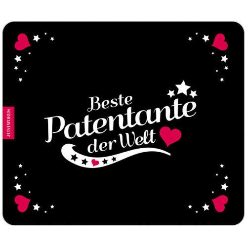 "JUNIWORDS Mauspad Mousepad /""Beste Patentante/"" M-3 Geburtstag Weihnachten"