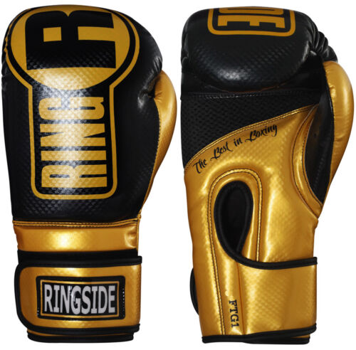 Gold//Black Ringside Boxing Apex Fitness Bag Gloves