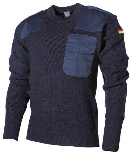 Bw militare Pullover maglione blu tedesco Bundeswehr gr 50 Marine Luftwaffe dqwtXH