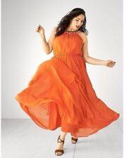 new soldout lane bryant orange chiffon embellished maxi dress VACATION! 26w