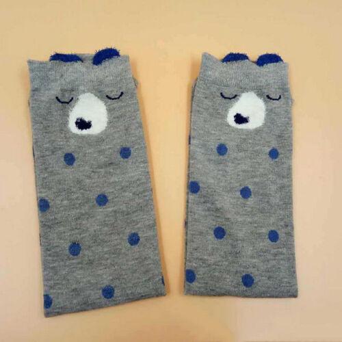 Toddlers Kids Girls Knee High Socks School Cotton Long Socks Tights Stockings