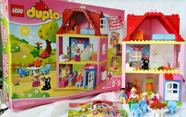 Lego Duplo Play House 10505 RETIRED Set 100% Complete With Box & Instructions