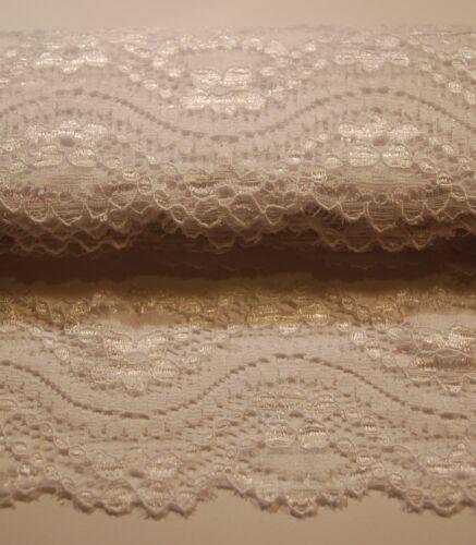 1-2Meter Spitze Polyester Spitzenband elastisch 21 Farben Spitzenbesatz 5,5cm