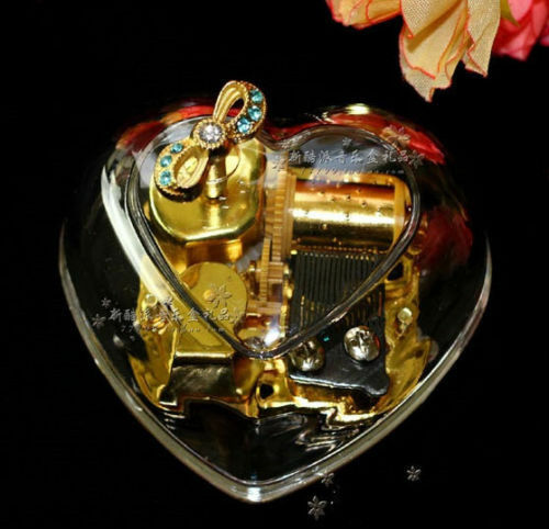 Gorgeous Heart Shape Wind Up Music Box : Yesterday