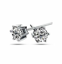 14K White Gold 2ct Stud Earrings Made with Swarovski Zirconia