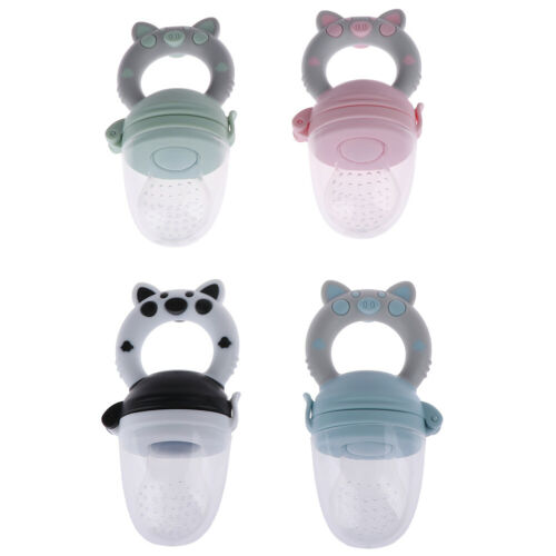 1Pc Teether silicone pacifier fruit feeder food nibbler feeder for baby a!AL