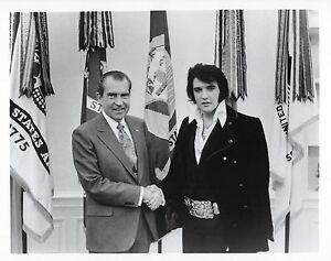 Details about ELVIS PRESLEY & PRESIDENT RICHARD NIXON 8X10 PHOTO MUSIC  PICTURE ROCK N ROLL
