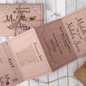Personalised-Wedding-Day-or-Evening-Invitations-Invites-Kraft-Bunting