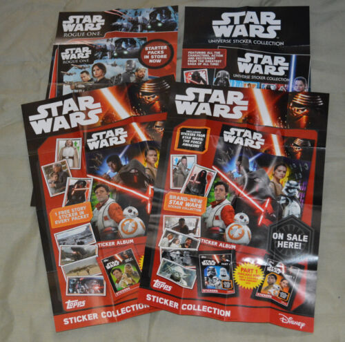 Topps Star Wars Sticker Collection Shop Display On Sale Here Poster {select you}