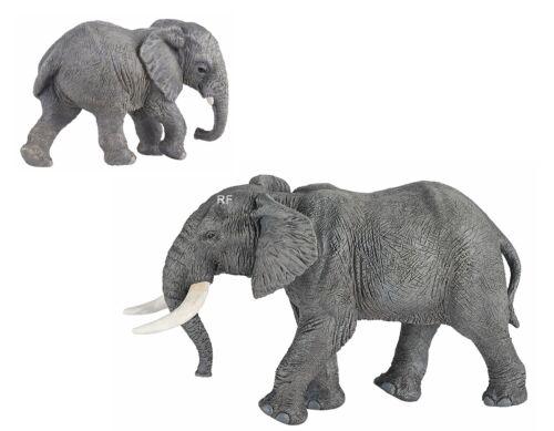2 personaggi Papo Animali selvatici 50192 africani ELEFANTE 50169 giovane Elefante Nuovo