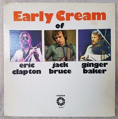 "EARLY CREAM OF Clapton Bruce & Baker 12"" Vinyl 33 LP Compilation ROCK VG+/VG"