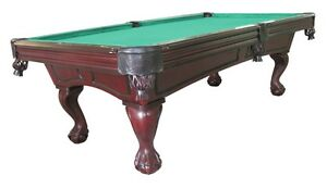 Foot POOL TABLE With BALL CLAW LEG In CHERRY By BERNER BILLIARDS - Claw foot pool table