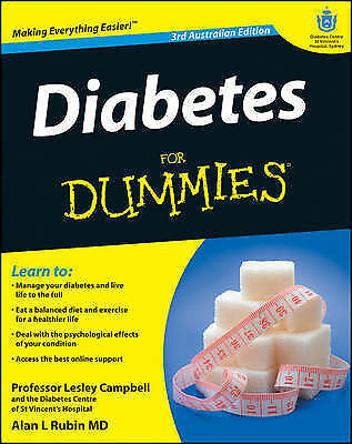 1 of 1 - Diabetes For Dummies by Lesley Campbell Paperback Book