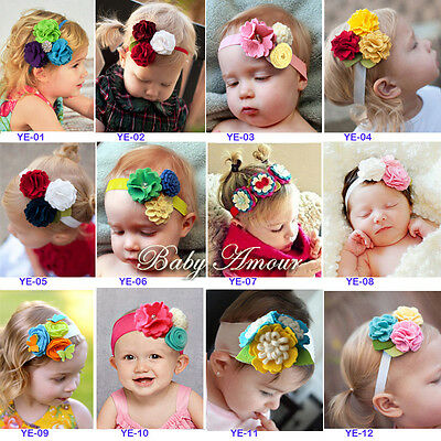 Kids' Clothing, Shoes & Accs Baby Accessories Top Baby Flower Headband Infant Newborn Baby Girl Toddler Christening Photo Prop