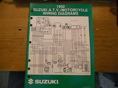 Suzuki ATV Motorcycle Wiring Diagrams 1992 | eBay