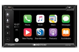 Soundstream Vrcp65 Double Din Bluetooth Dvd Cd Apple Carplay Car