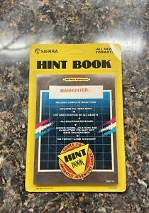 Sierra-Manhunter-Hint-Book-NEW-SEALED-NOS-1989-IBM-Tandy-MS-DOS-Unpunched