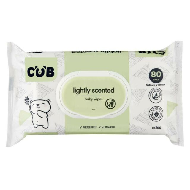 CUB Lightly Scented 80 Baby Wipes 1 pack