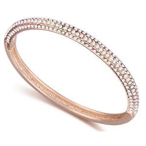 Champagne-Gold-Plated-Bracelet-Bangle-made-with-Swarovski-Crystal-Elements