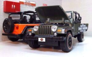 Jeep-Rubicon-Wrangler-4x4-G-1-27-24-Harley-Davidson-Modellino-Maisto-Modello