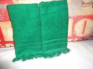 VINTAGE-CANNON-EMERALD-GREEN-2PC-FINGERTIP-TOWELS-10-X-15-100-COTTON