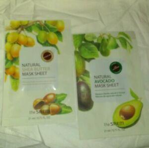 The-SAEM-Natural-Avocado-amp-Shea-Butter-Mask-Sheet-Set-2x-20mL-BNIP-K-Beauty-ipsy