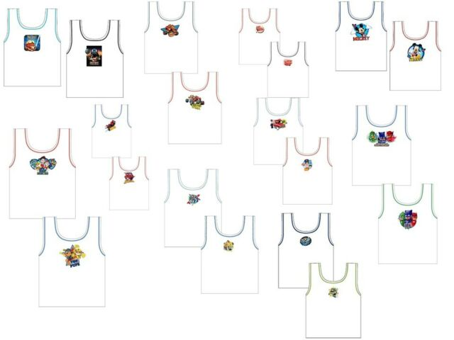 Disneys Mickey Mouse Boys Sleeveless Vests 2 Pack 18-24 Months Upto 4-5 Years